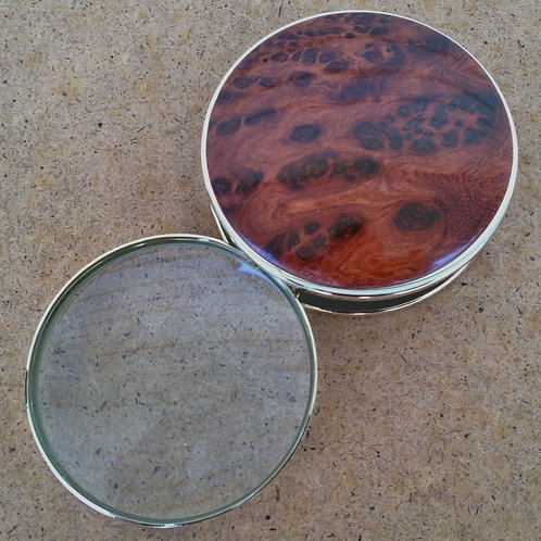 Wood Magnifying Glass Amboyna Burl & California Redwood Burl