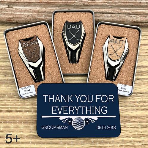 5+ Groomsmen Personalized Golf Ball Marker Divot Tool Custom Engraved Golf Gifts