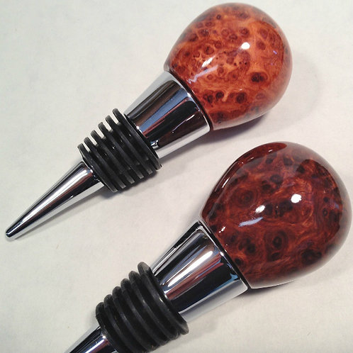 amboyna burl wine stopper bottle stopper cork