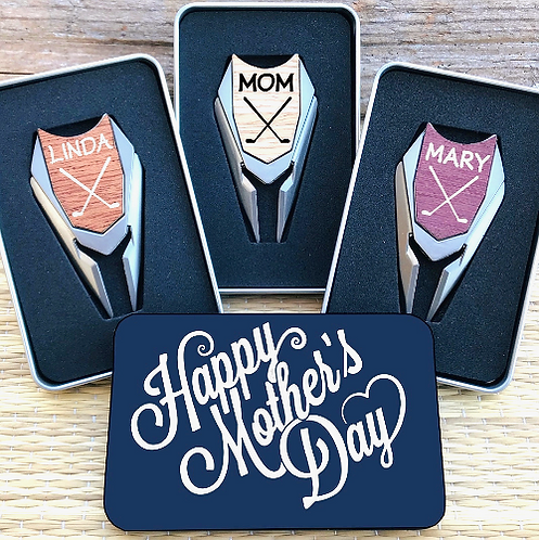 Personalized Golf Ball Marker Divot Tool Custom Engraved Mother's Day Golf Gift