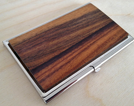 exotic wood business card credit card case Identification holder