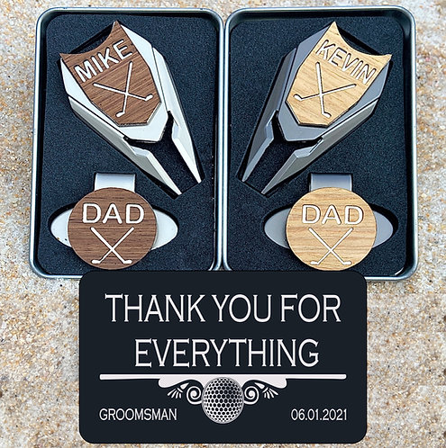 personalized golf ball marker gift set for groomsman best man