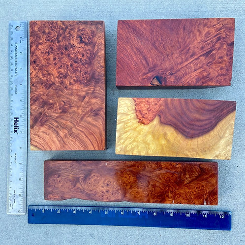 amboyna burl wood turning pen blank bowl blank california redwood burl narra paduak wood