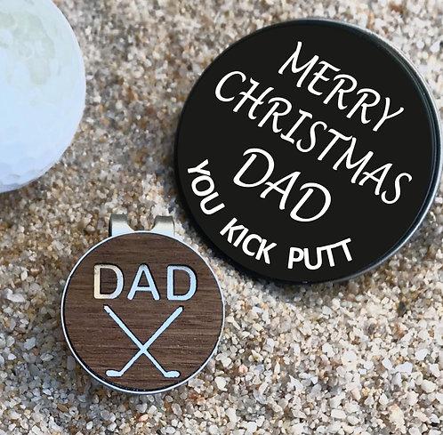 Christmas Golf Ball Marker, Hat Clip & Gift Box