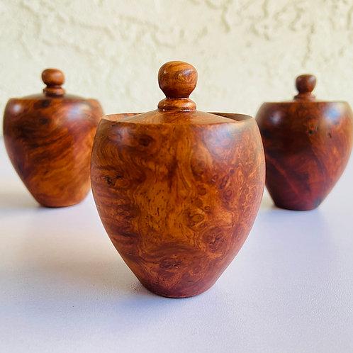 amboyna burl box lidded box stash box keepsake box redwood burl box paduak wood pet urn
