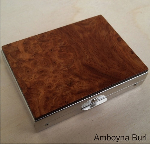 Rectangular Pill Box - Amboyna Burl
