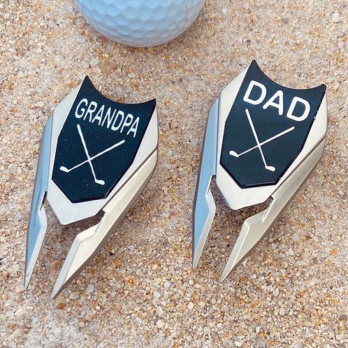 DAD or GRANDPA Golf Ball Marker and Divot Repair Tool