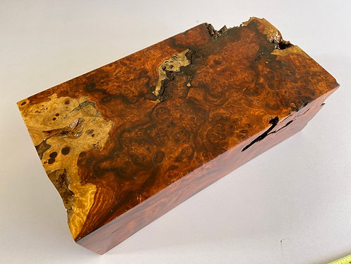 amboyna burl redwood burl paduak wood turning blank bowl blank pen blank knife scales figured amboyna burl two tone