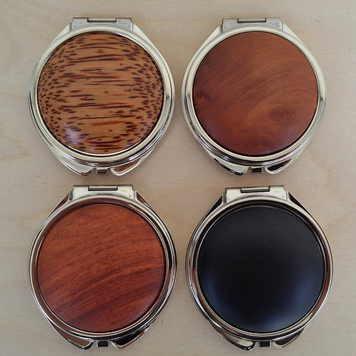 Compact Mirror - Exotic Wood