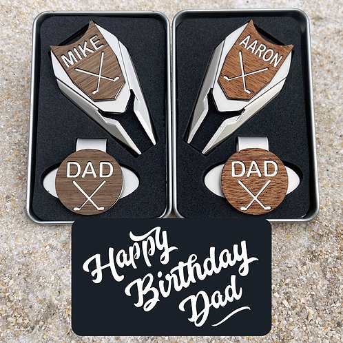 happy birthday dad personalized golf ball marker set gifts for men