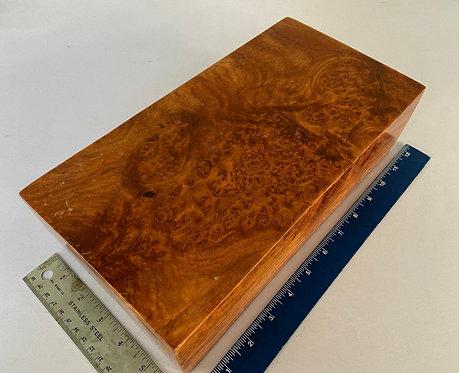Amboyna Burl Wood Turning Pen Blank Knife Scale Block #40