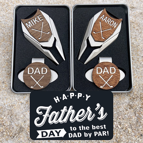 fathers day personalized golf ball marker divot tool custom engraved golf gift for men