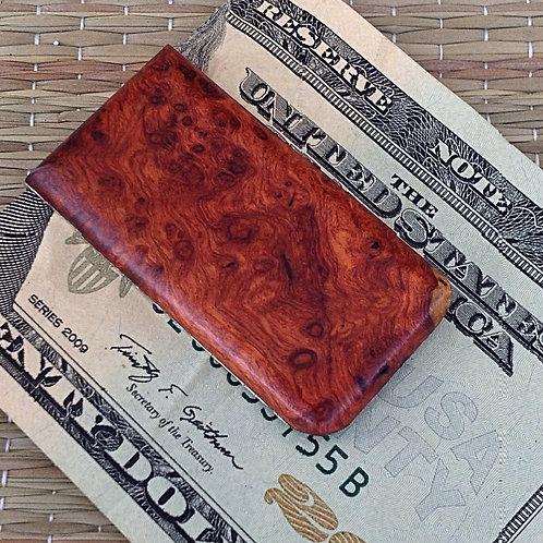 Amboyna Burl Wood Money Clip