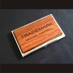 Customized Wood Busines Card Case