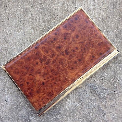 Business Card Case - Amboyna Burl Wood