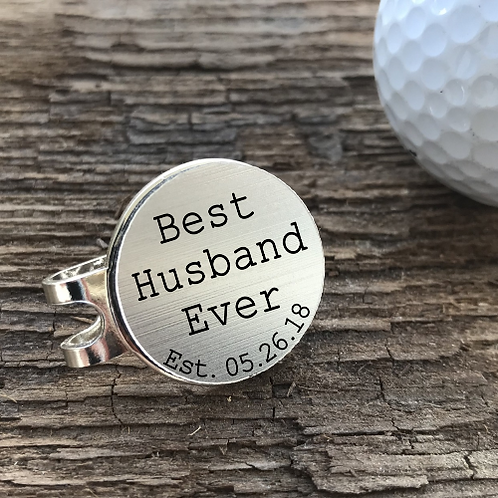 Personalized Golf Ball Marker Hat Clip Custom Engraved Best Husband / DAD Ever