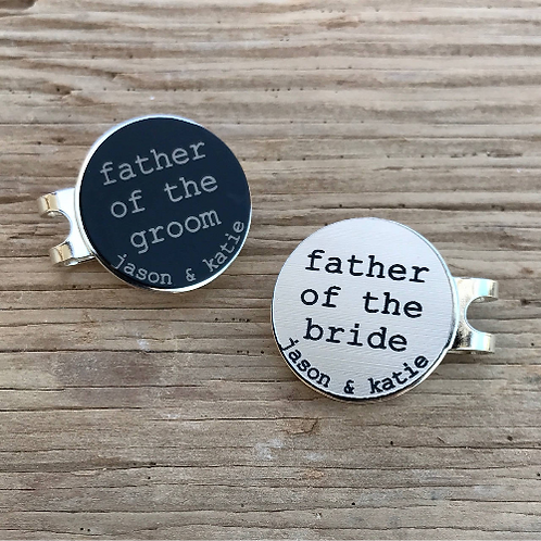 Golf Ball Marker & Hat Clip Father of the Bride/Groom