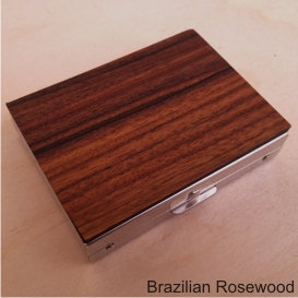 Rectangular Pill Box - Exotic Woods