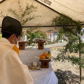 『安曇野の家6』地鎮祭 20210331