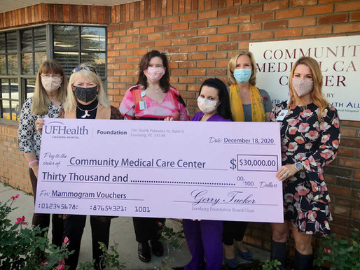 UF Health Leesburg Foundation Donates to the Community Medical Care Center