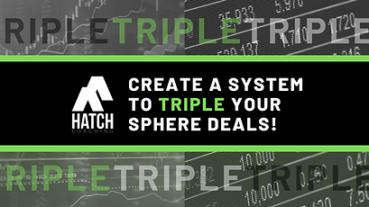 Create a system to TRIPLE your sphere de