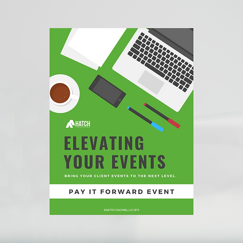 Pay It Forward Event Template