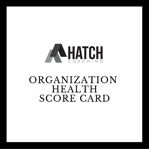 Organization Health Score Card