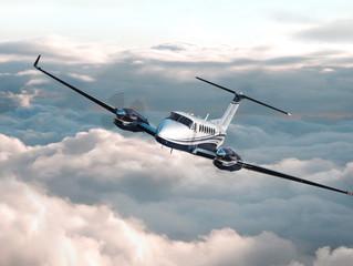 """Aí vem o novo """"Rei dos céus"""". King Air novo na area. (Teste seu ICAO)"""