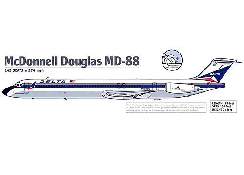 Delta MD-88 Mockup