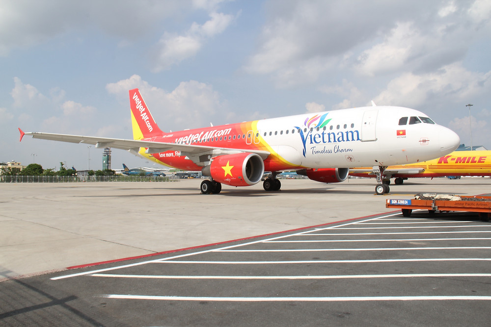 Mais nova aeronave Airbus da Vietjet