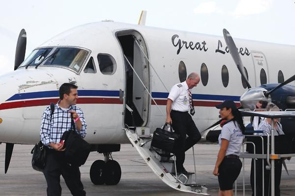 Deboarding Great Lakes Airlines