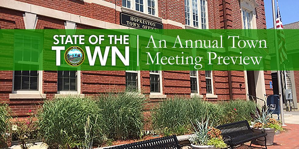 An Annual Town Meeting Preview