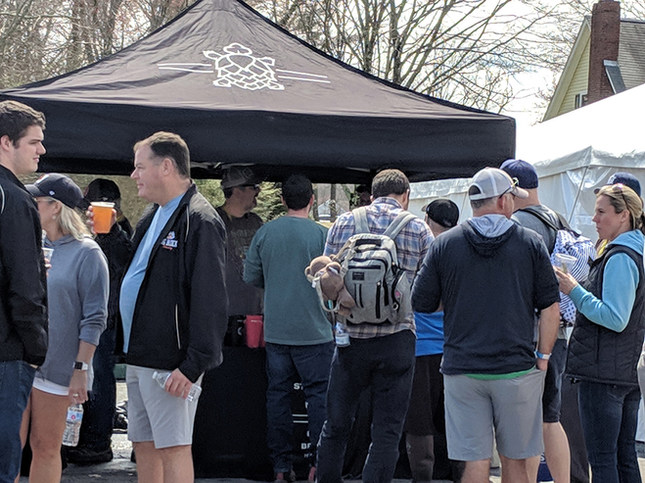 Start Line Brewing selling their Brew.