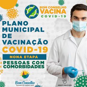 PLANO MUNICIPAL DE VACINAÇÃO CONTRA COVID-19 NONA ETAPA - 2ª FASE