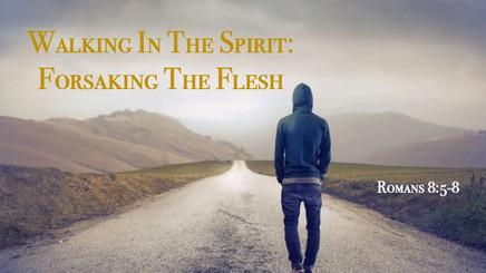 Walking In The Spirit:  Forsaking The Flesh