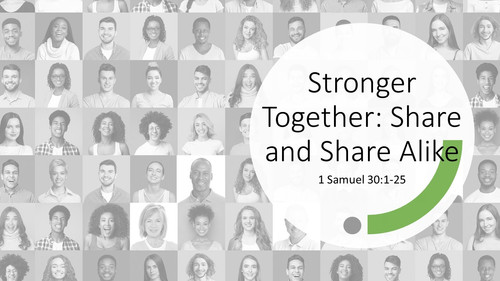 Stronger Together: Share and Share Alike