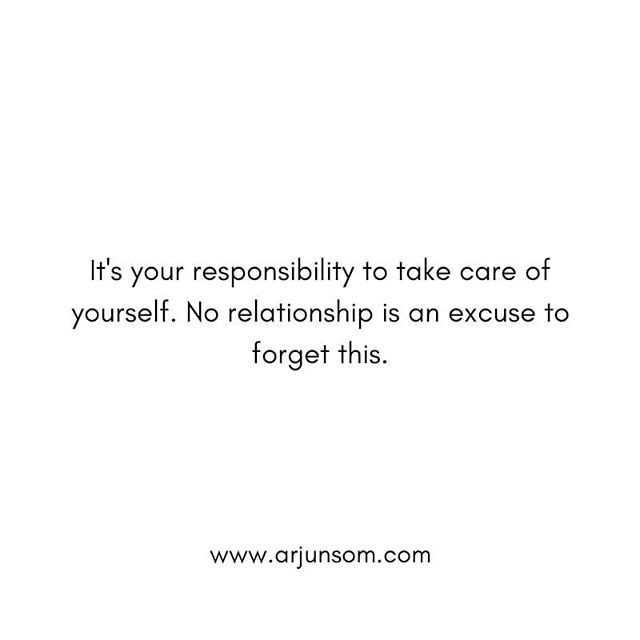 If you assume it's your partner's responsibility to take care of you, you will live your life at the mercy of your partner's kindness.  While your partner may support you, it's not their job to parent you.  The more you learn to take care of yourself, the more generously you could offer yourself to others and the less you will perceive yourself as a victim of situations.