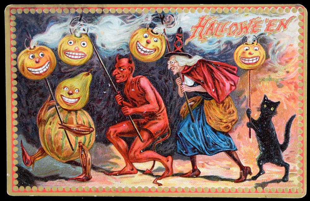 collectible R. Tuck vintage Halloween postcard