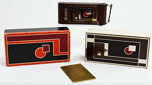 Art deco Kodak A1 gift camera by Walter Dorwin Teague -- sold for $575.55 on eBay