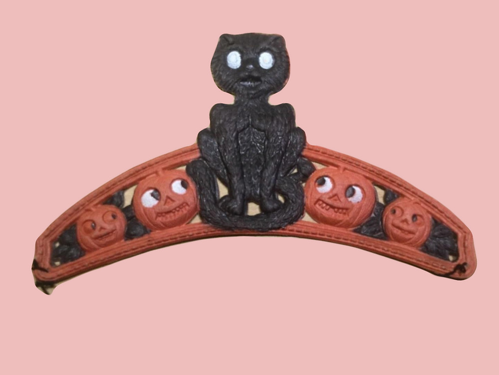 1930s era black cat paper mache tiara collectible that sold for over $2000 sold for