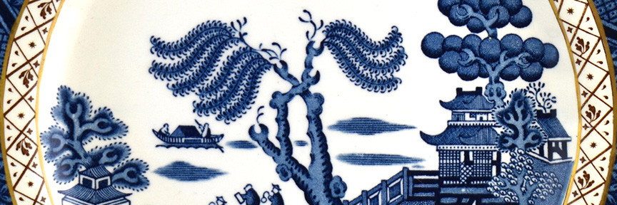 Blue Willow china desing
