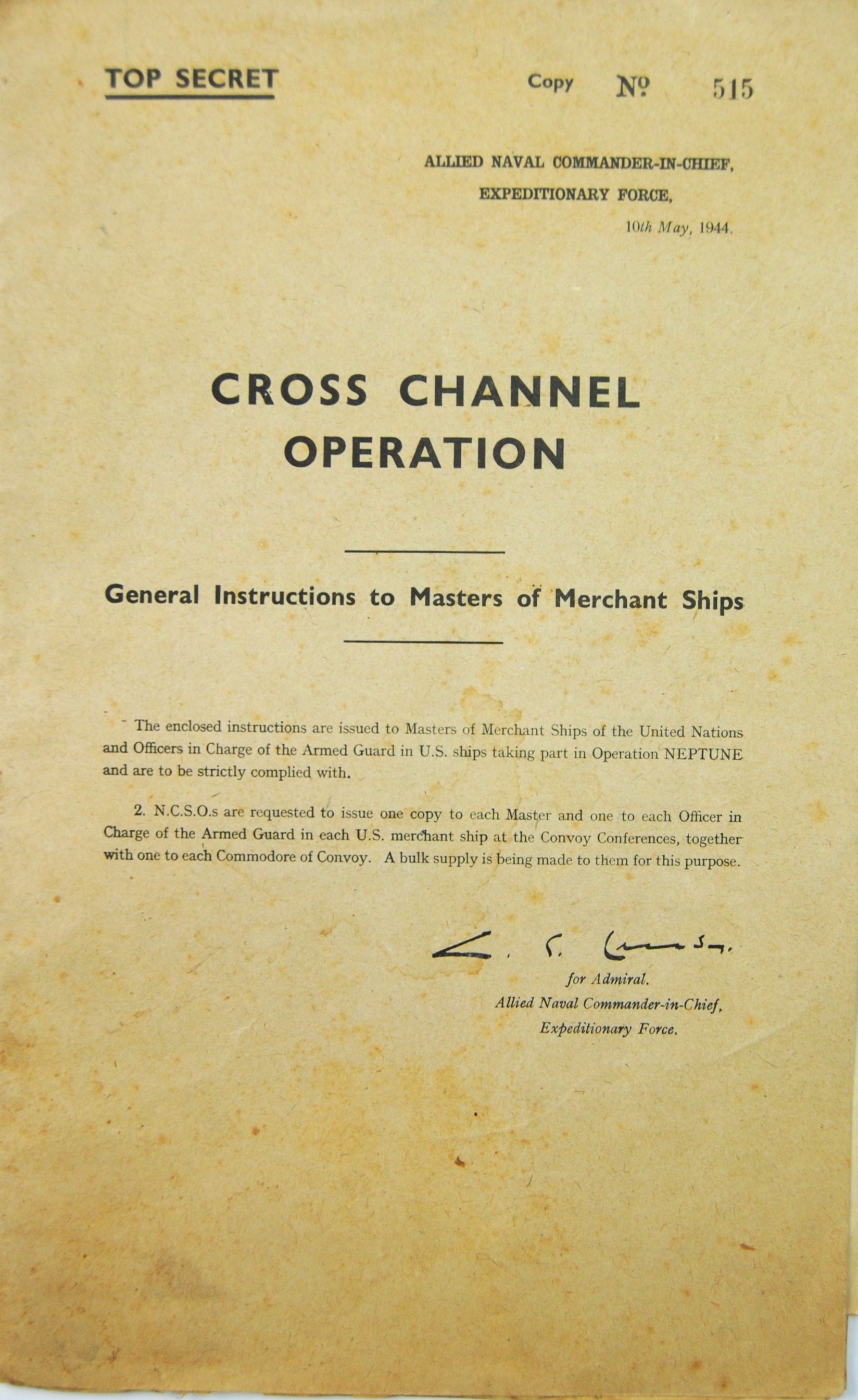WWII D-Day Launch Plans
