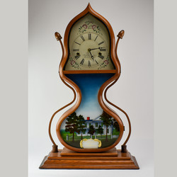 "J.C. Brown Forrestville ""Acorn"" Repro Mantle Clock"