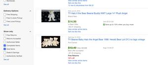 sold Beanie Baby Halo Bears