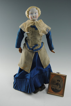 Blonde China Head Doll with Provenance
