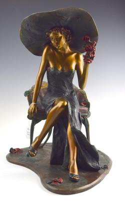 "17"" Isaac Maimon ""Emma Rose"" Bronze Statue"