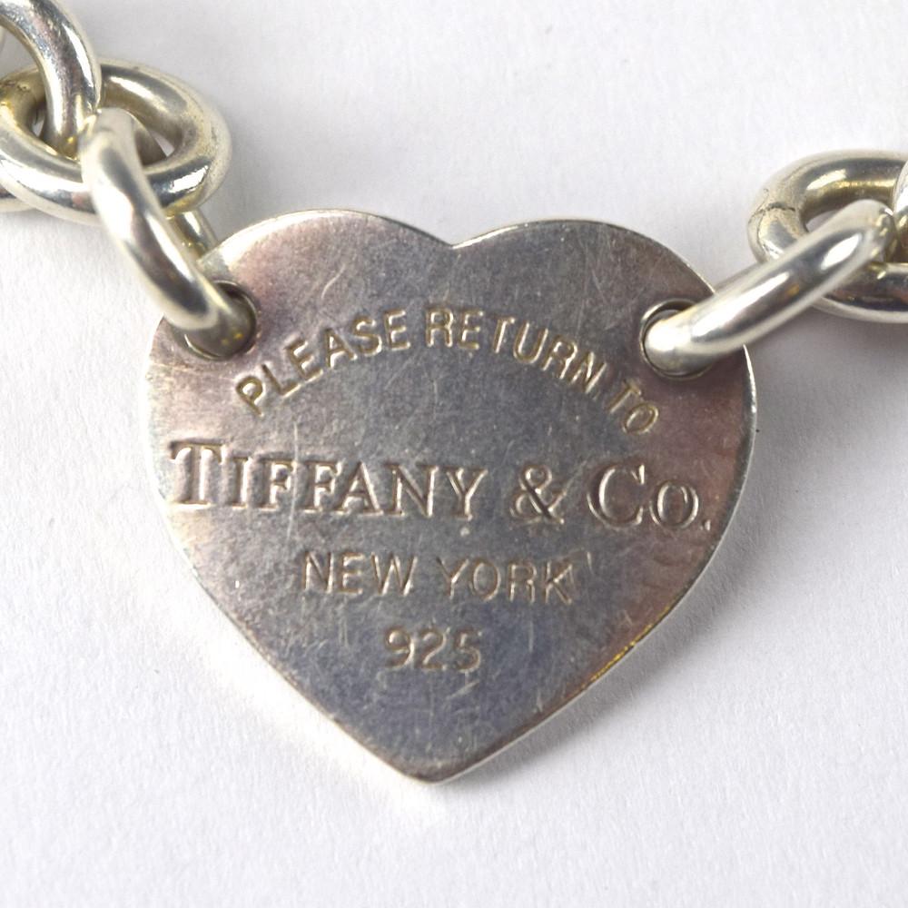 Tiffany & Co. hallmark on sterling silver bracelet