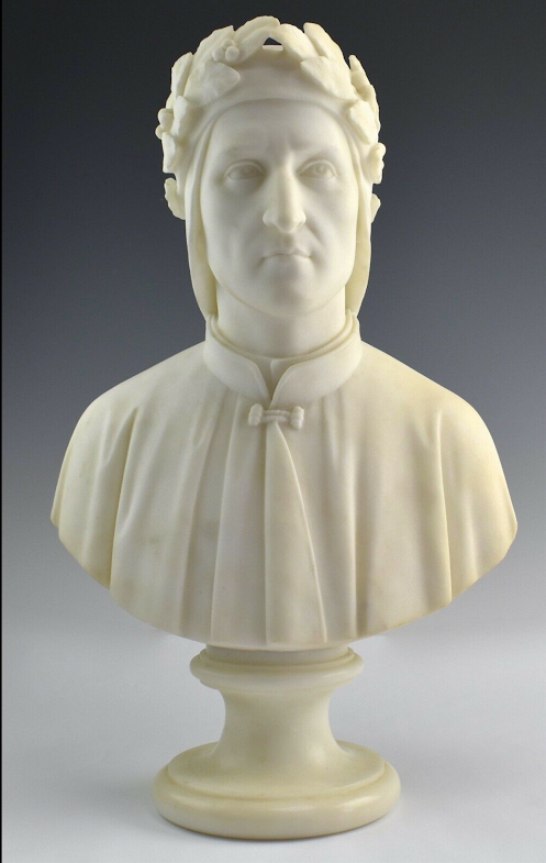 marble bust of Dante sold through Trader Chris Consignments