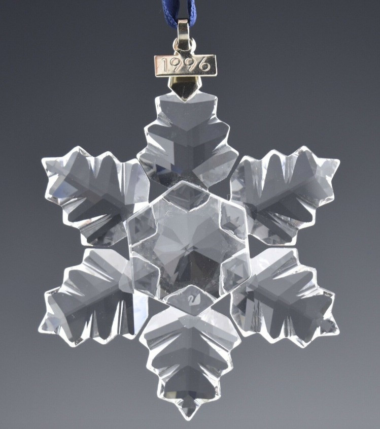 1996 Swarovski Crystal Snowflake Holiday Ornament