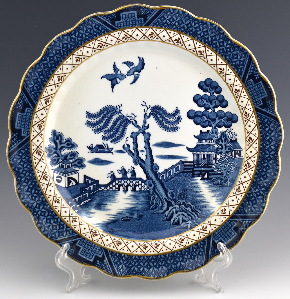 Blue Willow China plate